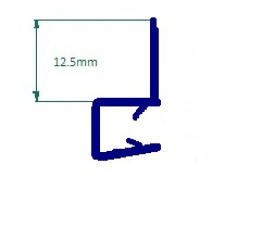 6-8mm Glass Vertical Seal 53009  - Pair